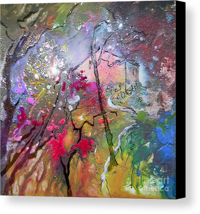 Miki Canvas Print featuring the painting Fantaspray 19 1 by Miki De Goodaboom