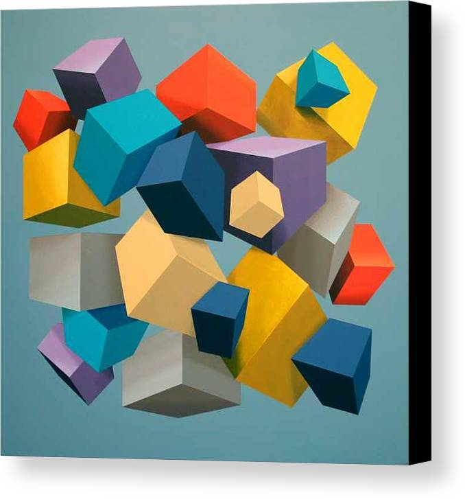 Canvas Print featuring the painting Free Fall by M Jaquis