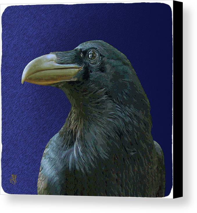 Raven As Loki The Mischief Maker. Canvas Print featuring the digital art Loki by John Helgeson
