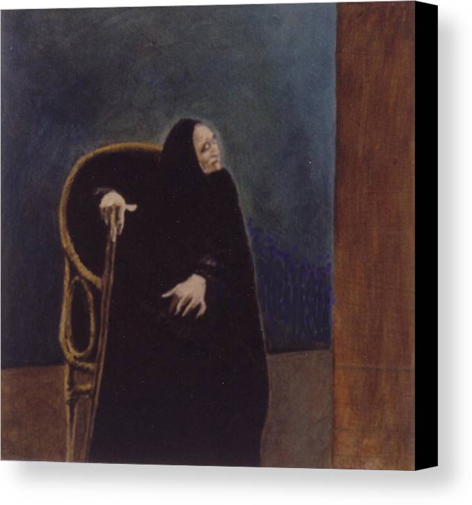 Aged Lady Canvas Print featuring the painting Madre Celestina by James LeGros