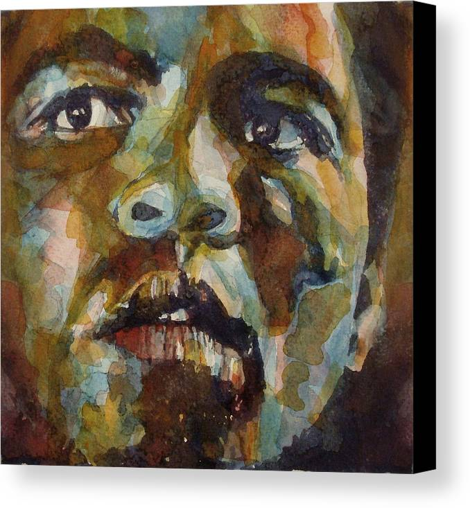 America Canvas Print featuring the painting Muhammad Ali  by Paul Lovering