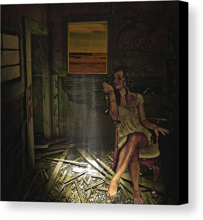 Canvas Print featuring the photograph She Waits For Him To Return by Jeff Burgess
