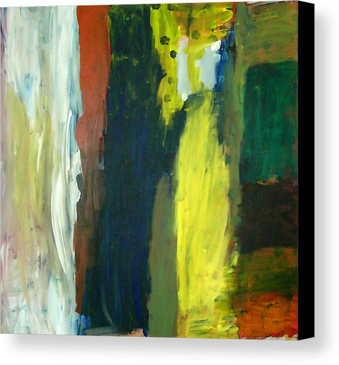 Abstract Canvas Print featuring the painting Squares by Danny Pike