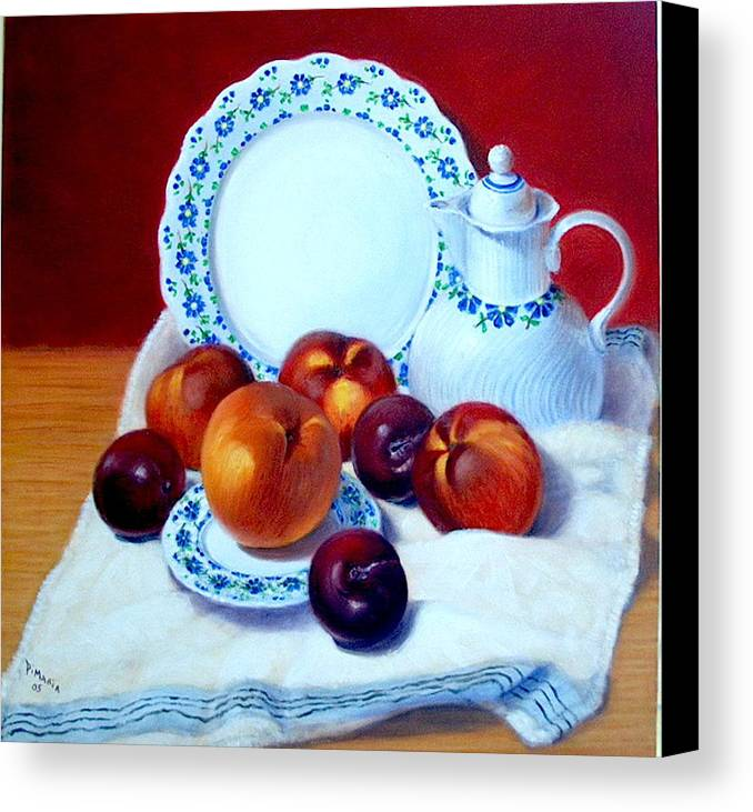 Realism Canvas Print featuring the painting Summer Harvest  by Donelli DiMaria