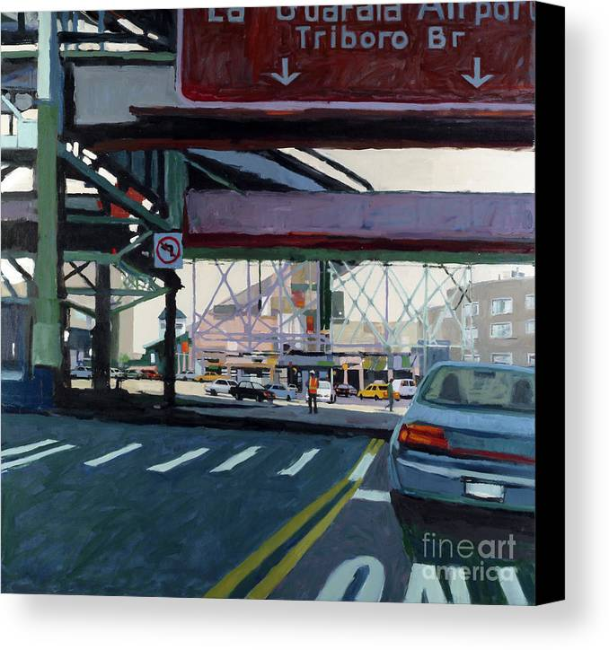 Urban Canvas Print featuring the painting To The Triboro by Patti Mollica