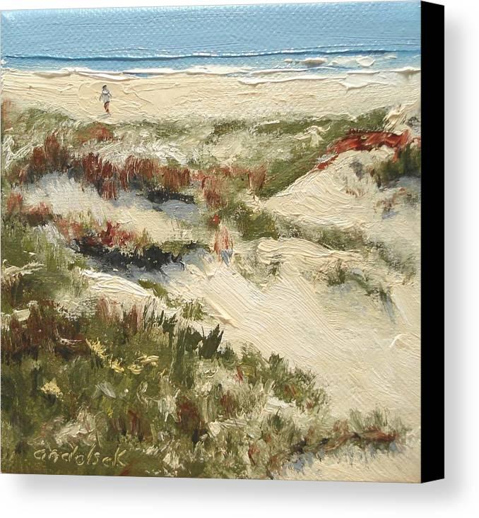 Water Canvas Print featuring the painting Ventura Dunes II by Barbara Andolsek