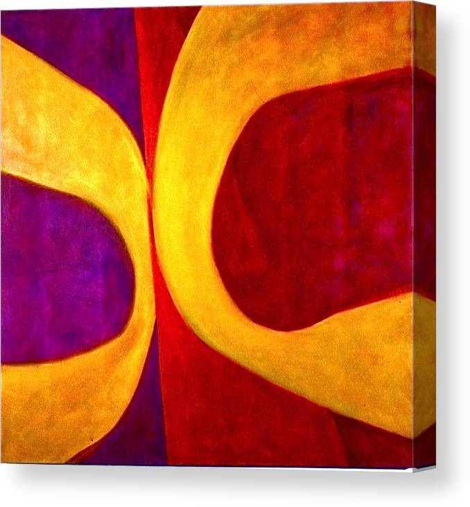 Abstract Paintings Abstract Paintingsabstract Paintings Multi Colour Paintings Multi Colour Canvas Prints Abstract Canvas Prints Abstract Greeting Cards P Canvas Print featuring the painting Eugenics by Chris Riley