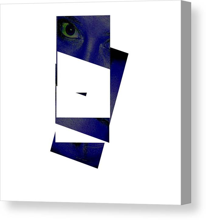 Canvas Print featuring the photograph Eye Abstract by Debbie May