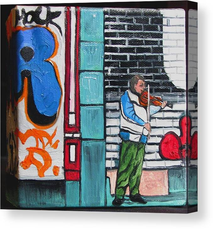 Gaffitti Art Canvas Print featuring the painting For The Love Of Music by Patricia Arroyo