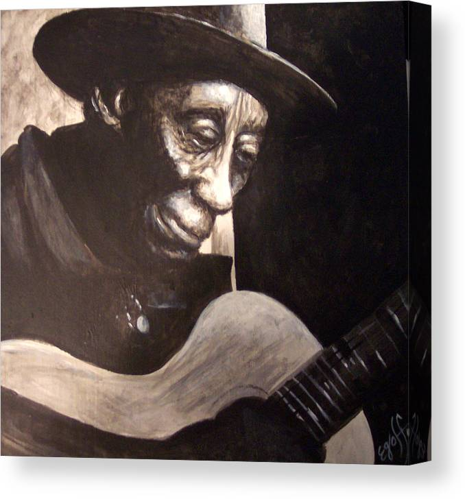 Blues Canvas Print featuring the painting Mississippi John Hurt by Douglas Egolf