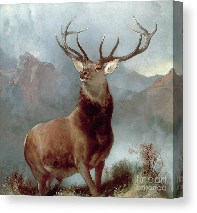 Monarch Canvas Print featuring the painting Monarch Of The Glen by Sir Edwin Landseer
