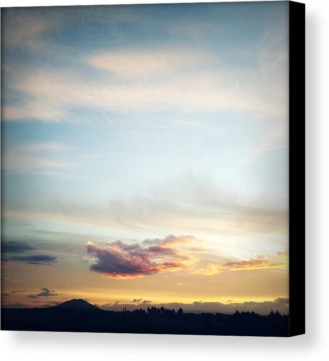 Sunset Canvas Print featuring the photograph Sunset by Les Cunliffe