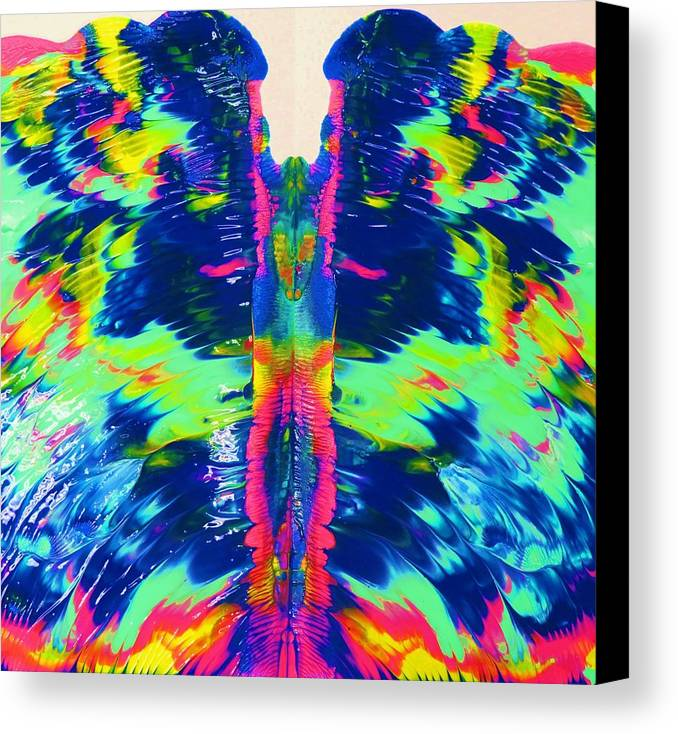 Angels Canvas Print featuring the painting Angel Wings by Vijay Sharon Govender