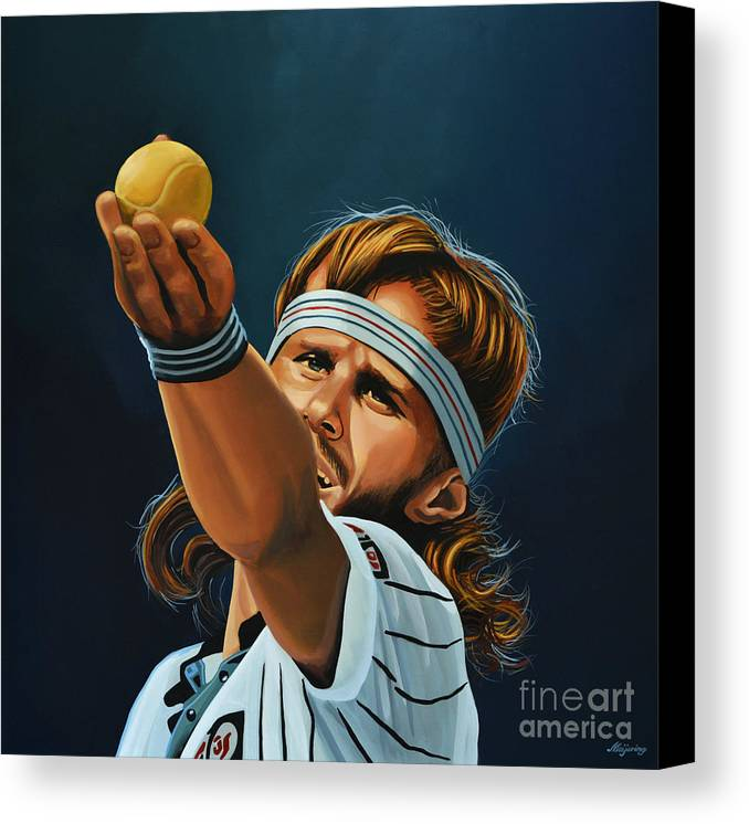 Bjorn Borg Canvas Print featuring the painting Bjorn Borg by Paul Meijering