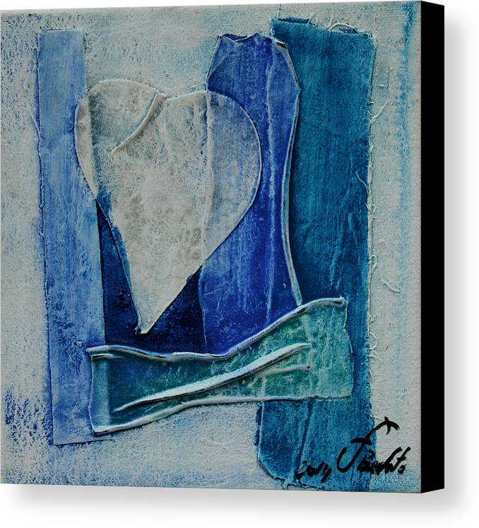 Blue Canvas Print featuring the painting Blue Love 11 by Jorge Berlato