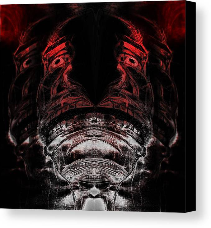 Ink Canvas Print featuring the digital art Coming Apart by Paul Griffin