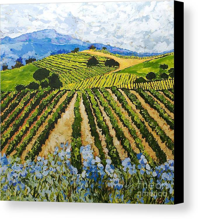 Landscape Canvas Print featuring the painting Early Crop by Allan P Friedlander