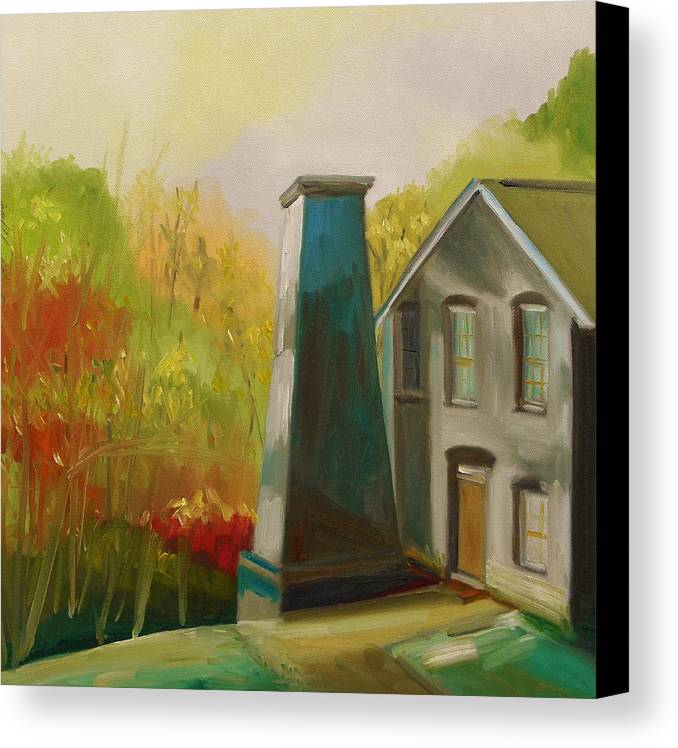 Enamel Factory Canvas Print featuring the painting Enamel Factory by John Williams