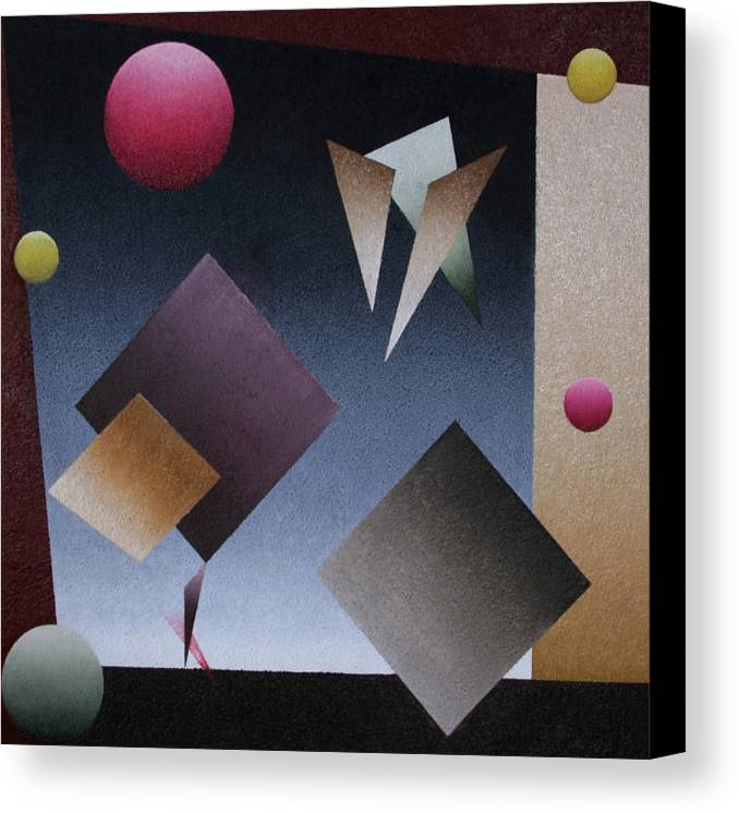 Circles Canvas Print featuring the painting Equilibrio En El Circo by Rolando Cruz