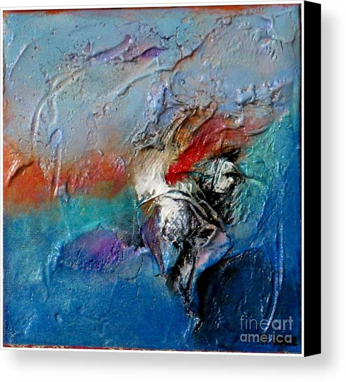 Mixed Media Canvas Print featuring the painting Floating By I by Roy Vance