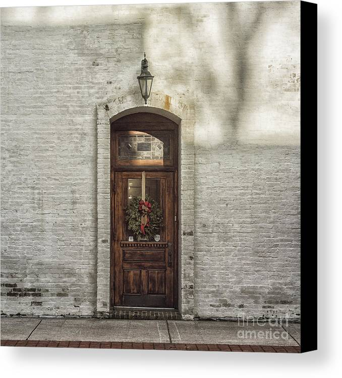 Holiday Canvas Print featuring the photograph Holiday Door by Terry Rowe