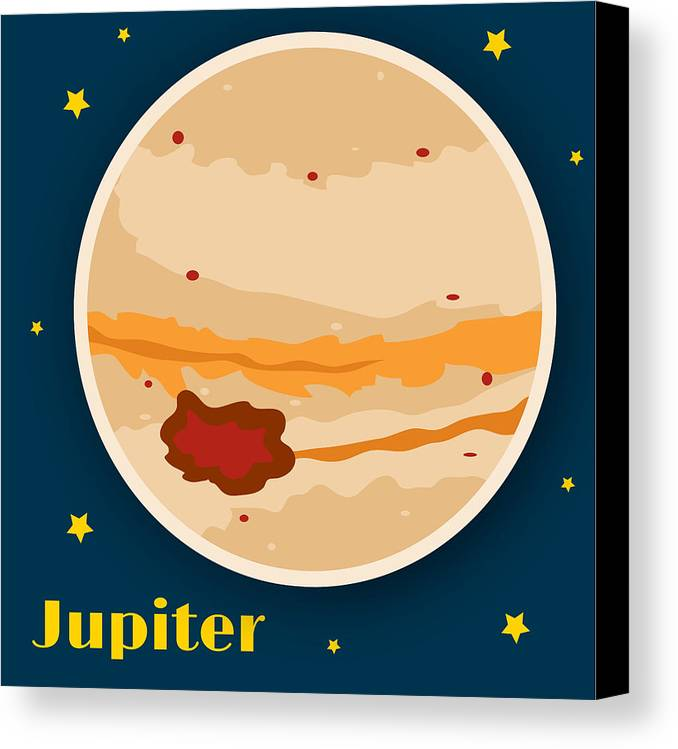 Jupiter Canvas Print featuring the drawing Jupiter by Christy Beckwith