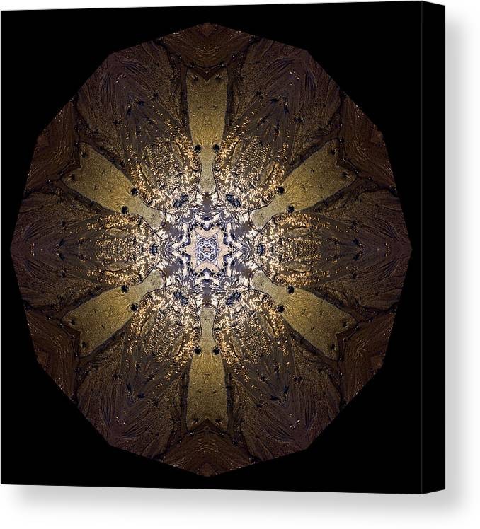 Mandala Canvas Print featuring the photograph Mandala Sand Dollar At Wells by Nancy Griswold