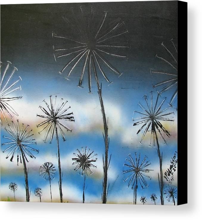 Meadow Canvas Print featuring the painting Meadow At Dawn by Joan Stratton