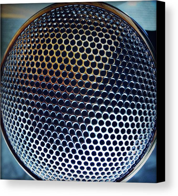 Metal Canvas Print featuring the photograph Metal Mesh by Les Cunliffe