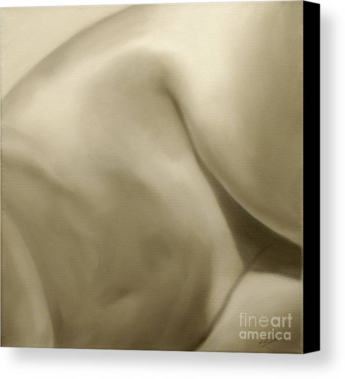 Nude Canvas Print featuring the painting Nude Study IIi by John Silver