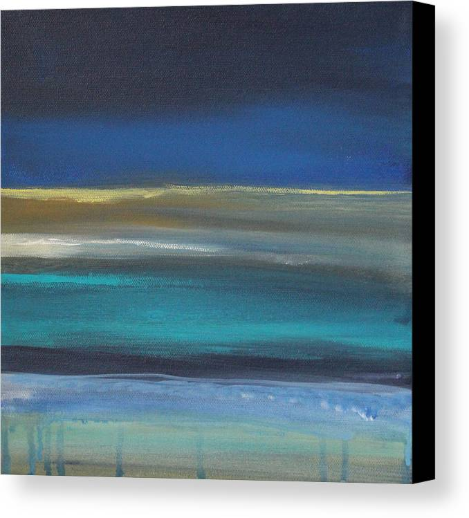 Abstract Painting Canvas Print featuring the painting Ocean Blue 2 by Linda Woods