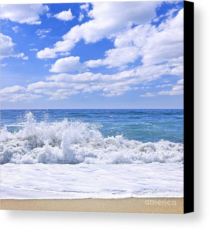 Surf Canvas Print featuring the photograph Ocean Surf by Elena Elisseeva