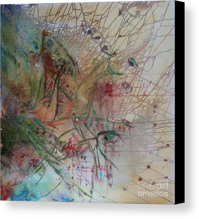 Abstract Canvas Print featuring the painting River by Avonelle Kelsey