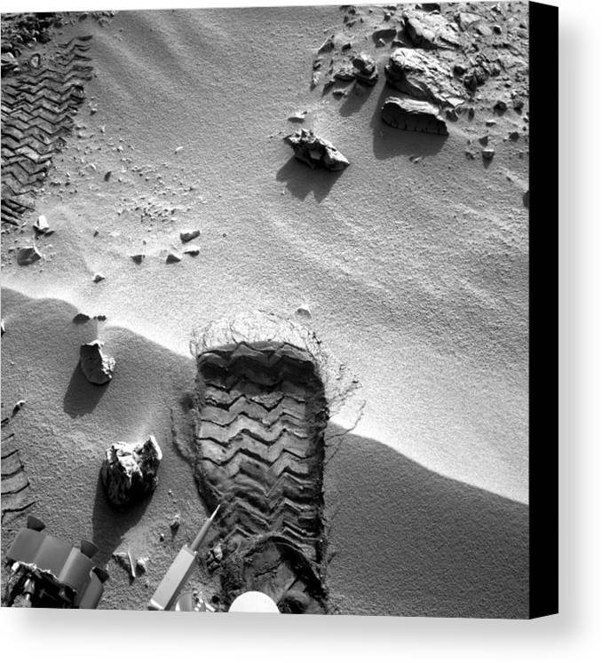 3 October Canvas Print featuring the photograph Rocknest Site, Mars, Curiosity Image by Science Photo Library