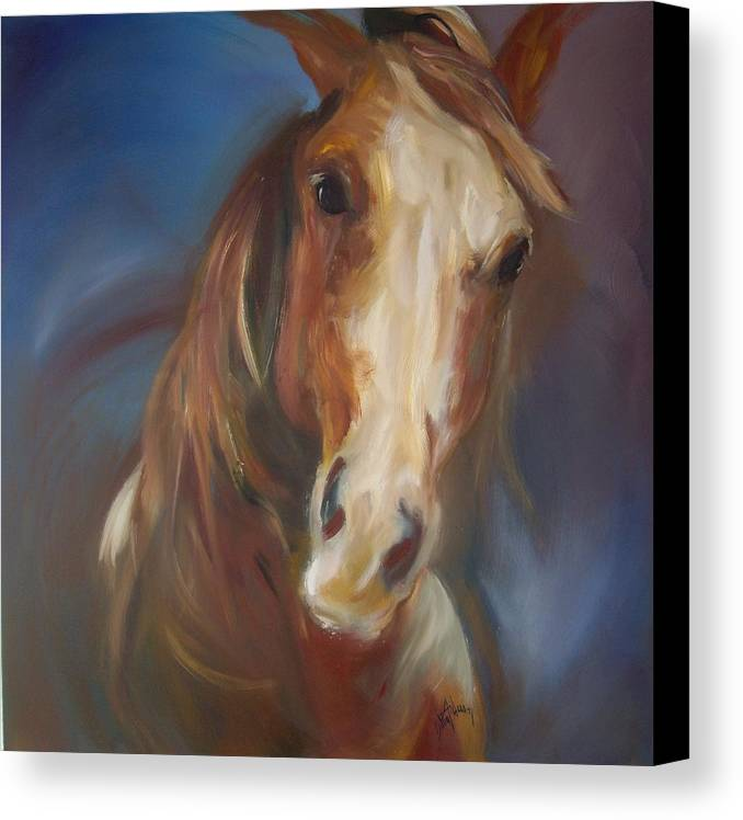 Horse Canvas Print featuring the painting Running Free by Debbie Anderson
