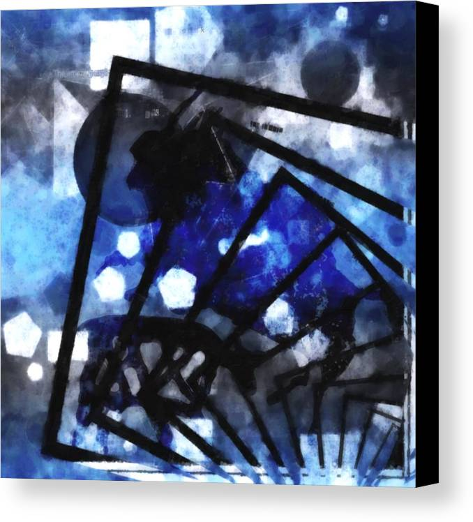 Abstract Canvas Print featuring the mixed media The Amazing Explosion by Tommytechno Sweden