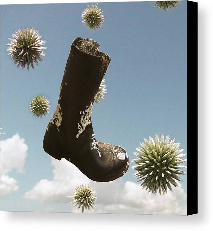 Wasted Canvas Print featuring the digital art Wasted by Eric Kempson