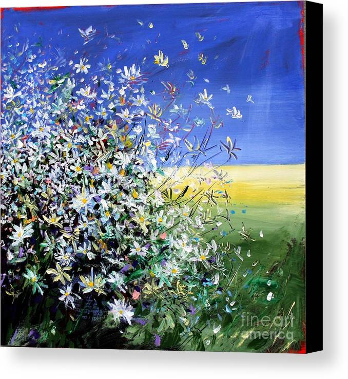 Daisies Canvas Print featuring the painting Wild Daisies by Mario Zampedroni