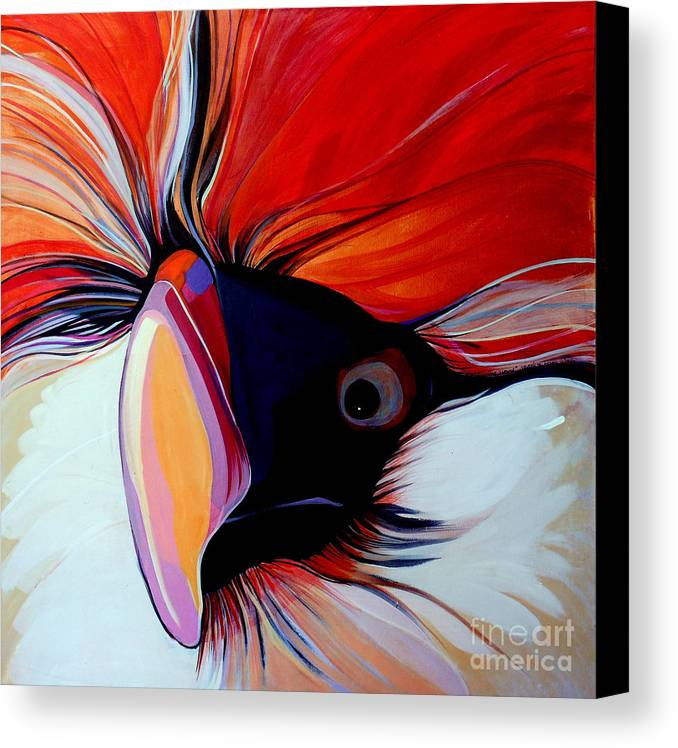 Bird Canvas Print featuring the painting Wild Thang by Marlene Burns