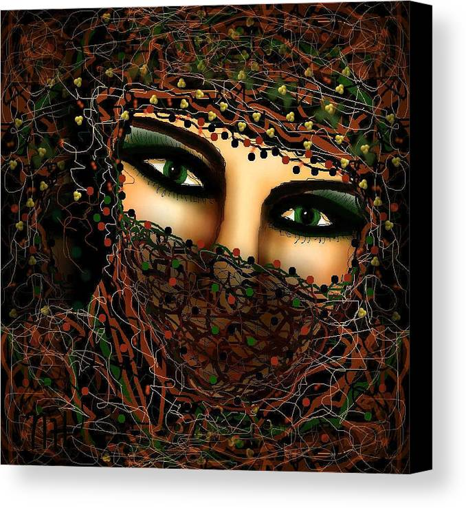 Seductive Canvas Print featuring the mixed media Seductive by Natalie Holland