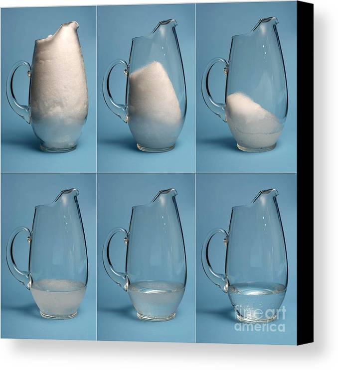 Snow Canvas Print featuring the photograph Snow Melting by Ted Kinsman