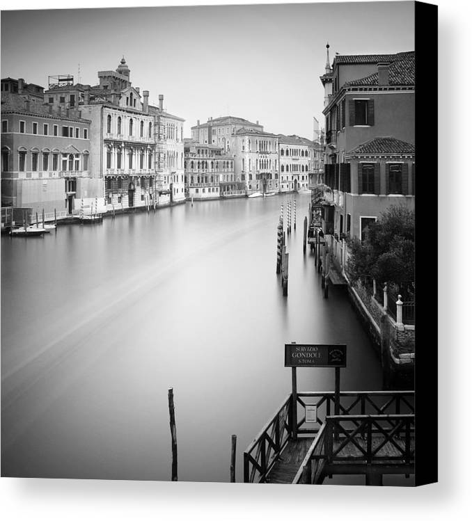 Venice Canvas Print featuring the photograph Canal Grande Study Iv by Nina Papiorek