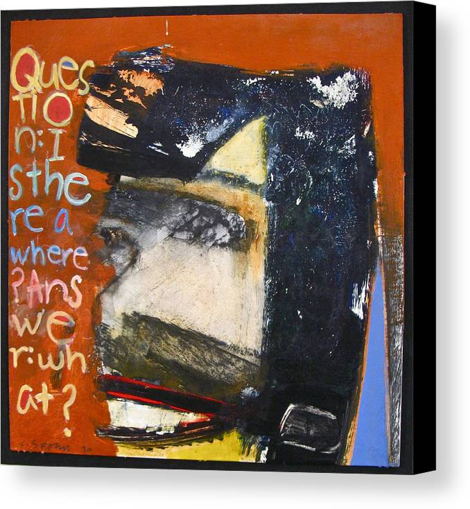 Abstract Painting Canvas Print featuring the painting Question by Cliff Spohn