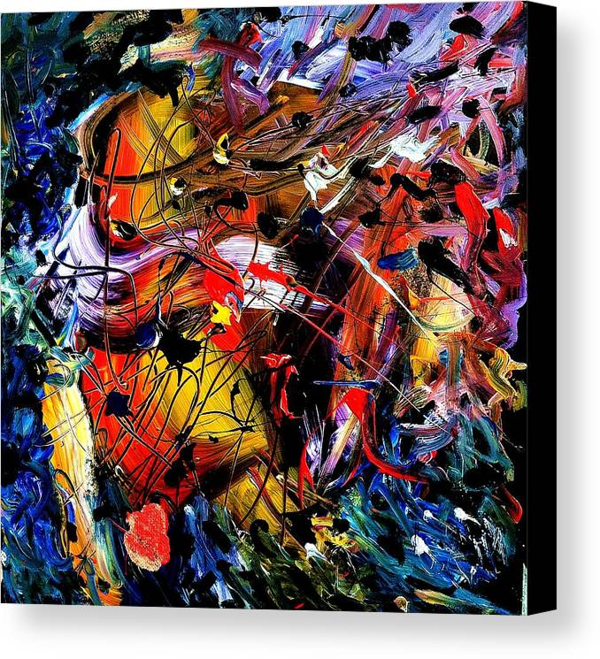 Cheers Canvas Print featuring the painting St Helina Cheers by Neal Barbosa