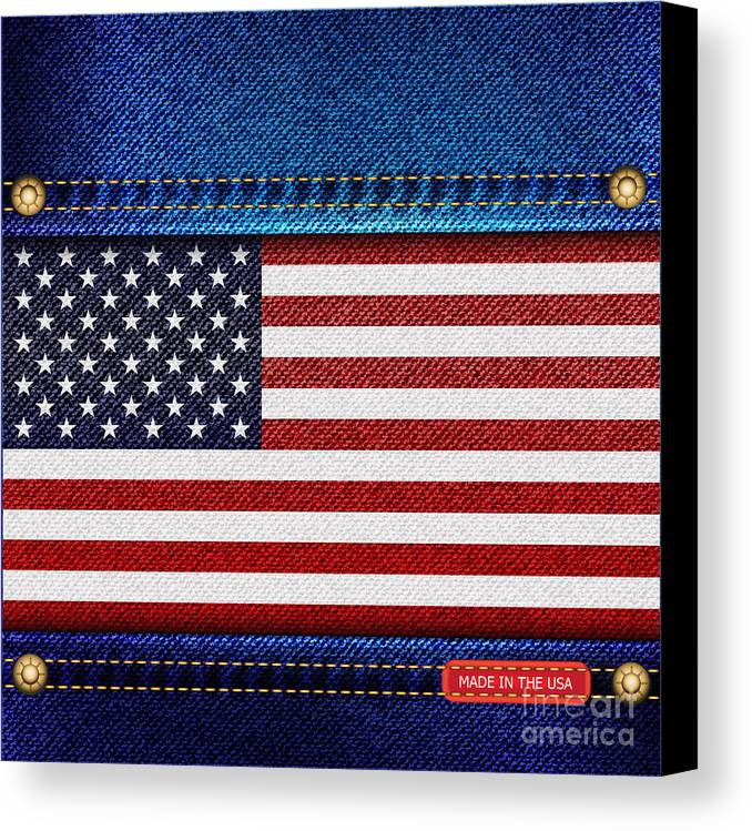 Background Canvas Print featuring the photograph Stars And Stripes Denim by Jane Rix