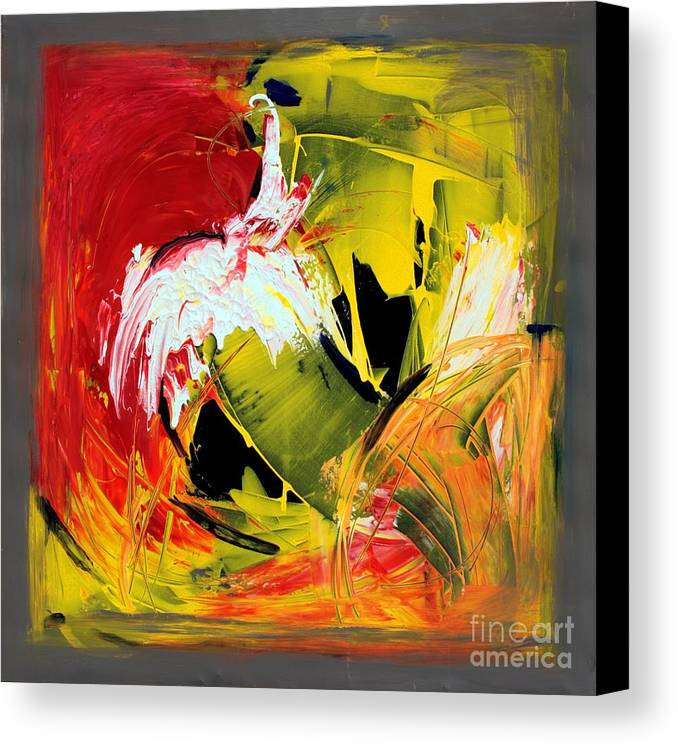 Abstarct Canvas Print featuring the painting Abstract Painting by Mario Zampedroni