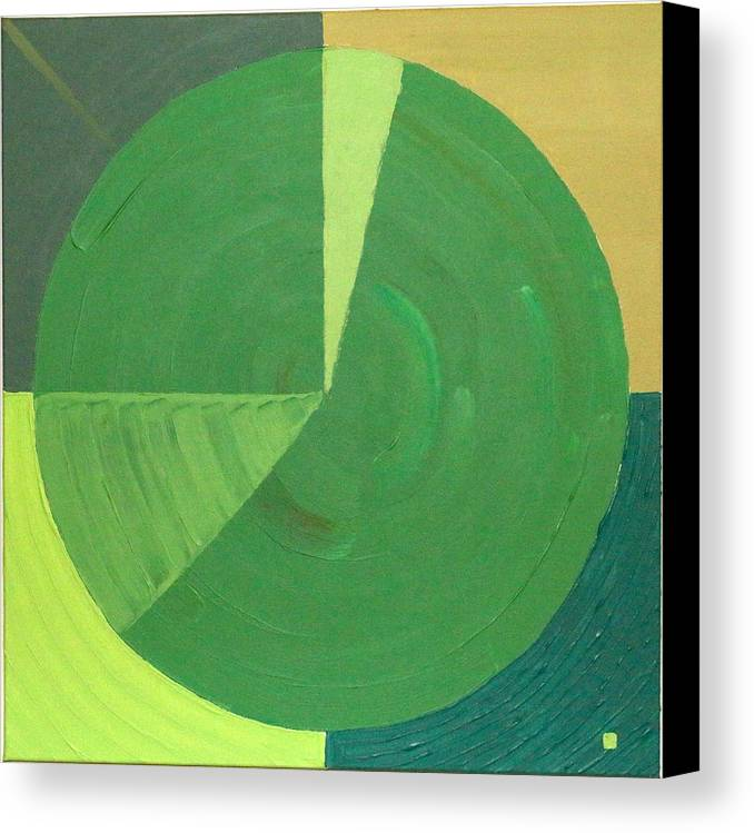 Landscape Canvas Print featuring the painting Aquifer # 9 by Jonathan Perlstein