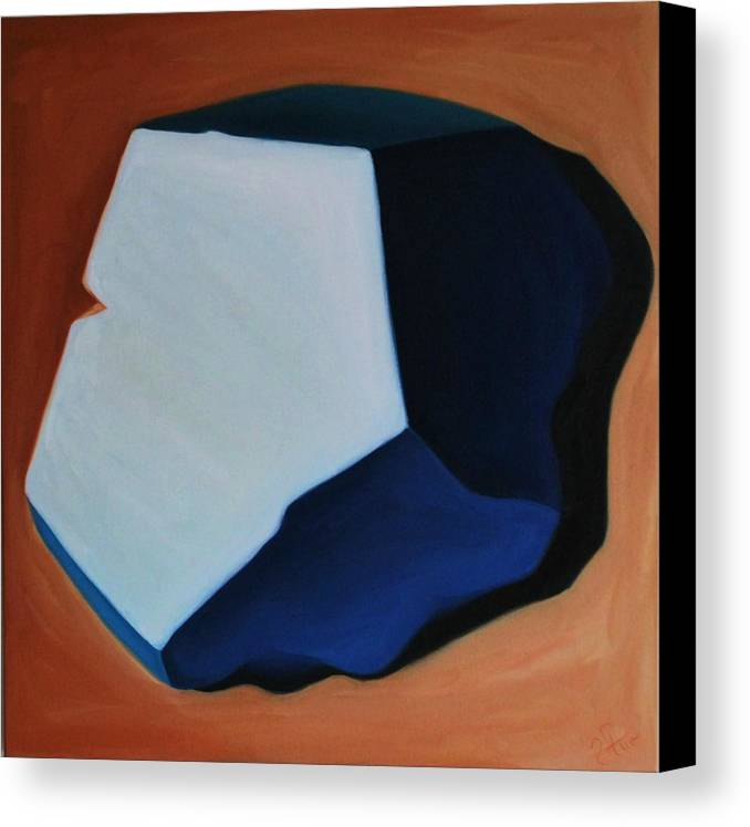 Abstract Canvas Print featuring the painting Atlantis by Varvara Stylidou