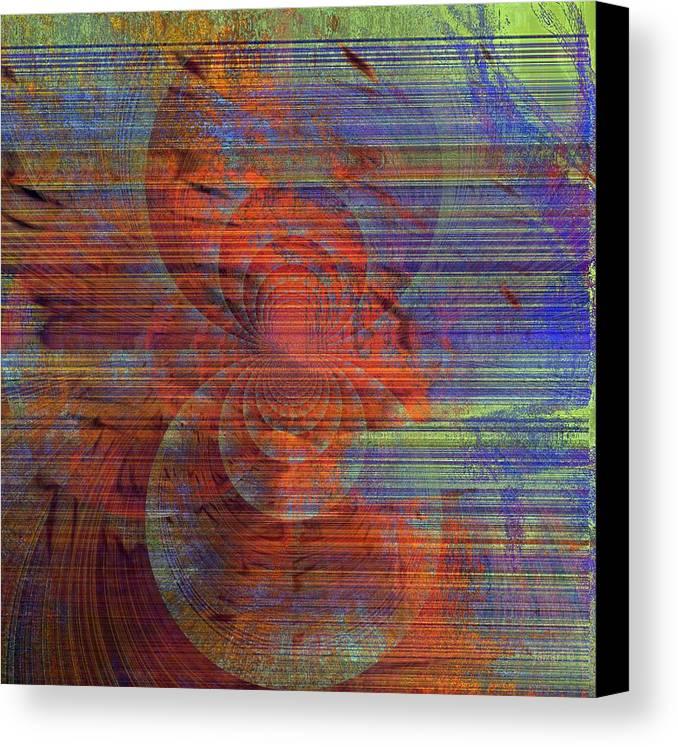 Fania Simon Canvas Print featuring the digital art Blending Palette by Fania Simon