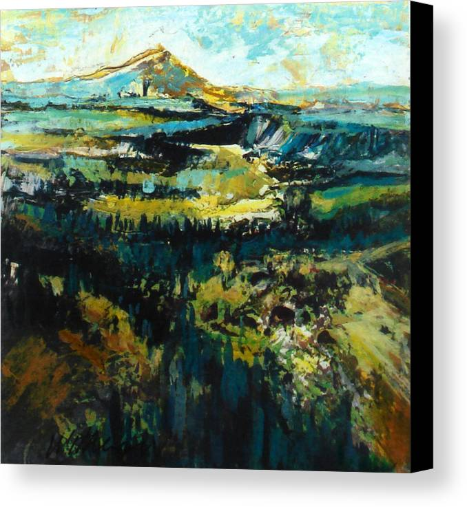 Landscape Canvas Print featuring the painting Blue Mountains by Dale Witherow